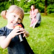 Girl With Microphone — Stock Photo #4861914