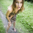 Shocked And Surprised Girl - Foto Stock