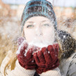 Blowing Snow — Stock Photo