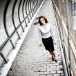 Businesswoman Walking — Stock Photo