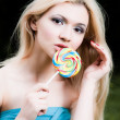 Woman Ana Lollipop — Stock Photo