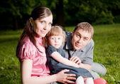 Счастливая семья — Стоковое фото