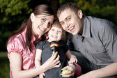 Happy Family — Stock fotografie