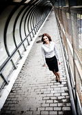 Businesswoman Walking — Stock Photo