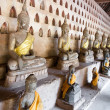 Ancient Buddha sculptures — Stock Photo