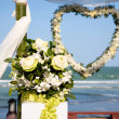Decoration of wedding ceremony. — Foto Stock