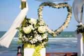 Decoration of wedding ceremony. — Stock Photo