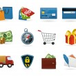 Shopping icon Set — Vettoriali Stock