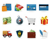 Shopping icon Set — Vetor de Stock