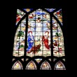 Stained-glass window. - Stock Photo
