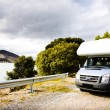 Motor Home Against Nature Background — Stock Photo