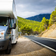 Motor Home Near The Road - Stock Photo