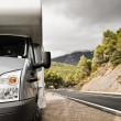 Stock Photo: Motorhome Near The Road
