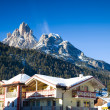 Stock Photo: Hotel In Alps