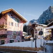 Village In Alps Resort — Stock Photo