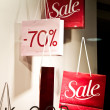 Shopping Bags With Sale Sign - Stock Photo