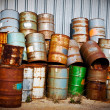 Chemical Drums - Stock Photo