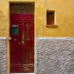 Old Red Door — Stock Photo