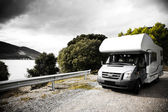 Motorhome On The Road — Foto de Stock