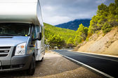 Motor Home Near The Road — Stock Photo