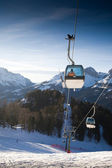 Ski lift cabins — Stock Photo