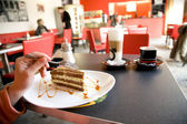 Kaffee und dessert — Stockfoto