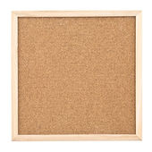 Corkboard isolated on white background — Stock Photo