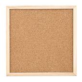 Corkboard isolated on white background — Stock Photo