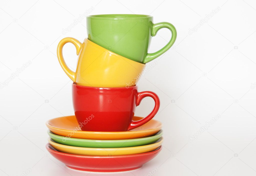 Colored cups — Stock Photo #4838506