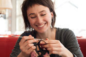 Young girl crochet — Stock Photo