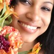 Stock Photo: Floral fresh face