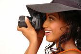 Fotógrafo hermosa — Foto de Stock