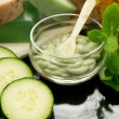 Cucumber mint spa facial — Stock Photo