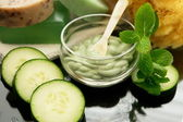 Cucumber mint spa facial — ストック写真