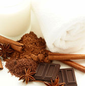Cocoa spice spa treatment — Stock Photo