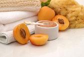 Tratamiento de spa albaricoque — Foto de Stock