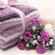 Lavender holiday spa treatment - Stockfoto