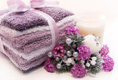 Lavender holiday spa treatment — Stock Photo