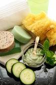 Cucumber mint spa treatment — Stock Photo