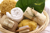 Soothing spa basket — Stock Photo
