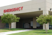 Hosptal emergency entrance sign — Stock Photo