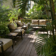 Tropical outdoor lounge — Stock Photo