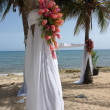 Stock Photo: Beach wedding ceremony site