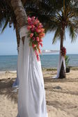 Beach wedding ceremony site — Stock Photo