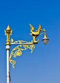 Lamp pole on street — Stock Photo
