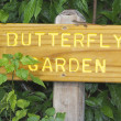 Butterfly Garden sign — Foto de Stock