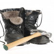 Insulated Winter Construction Boots — Stock Photo