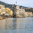 The Castel in the sea of Rapallo - Foto Stock