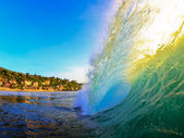 Sunset barrel — Stock Photo