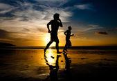 Sunset run — Stock Photo